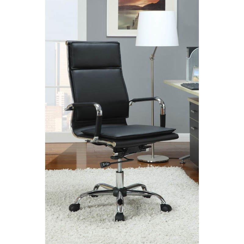 Coaster High Back Executive Office Chair in Black
