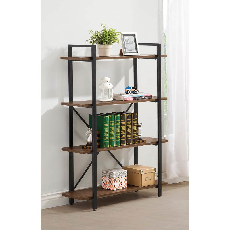 Coaster Industrial Style Metal Bookcase in Black