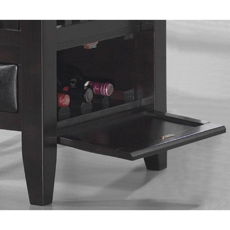 Coaster Jaden Square Counter Height Dining Table Cabinet in Cappuccino