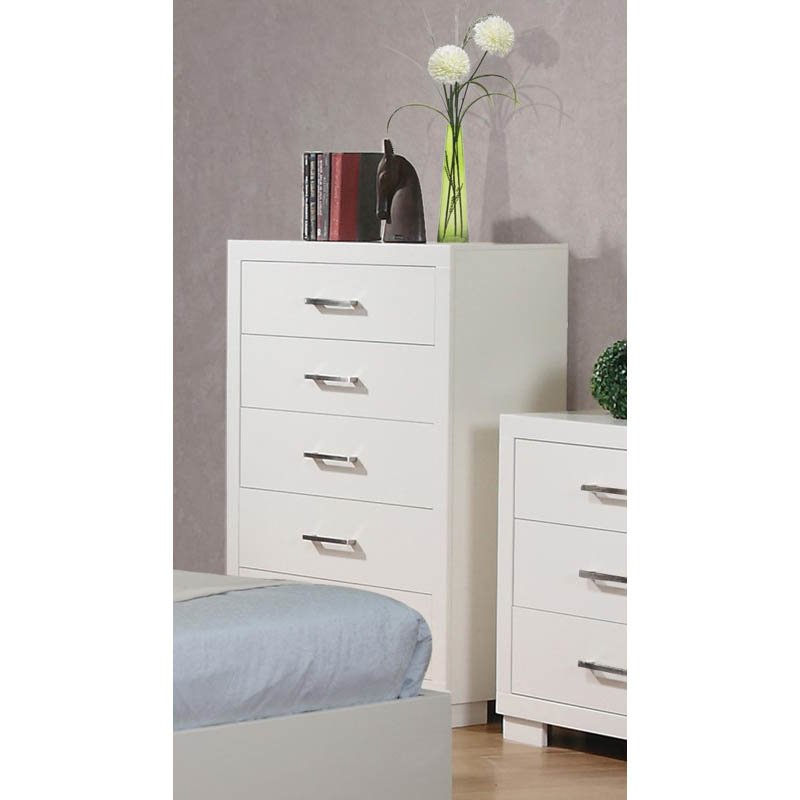 Coaster Jessica Five Drawer Chest in White