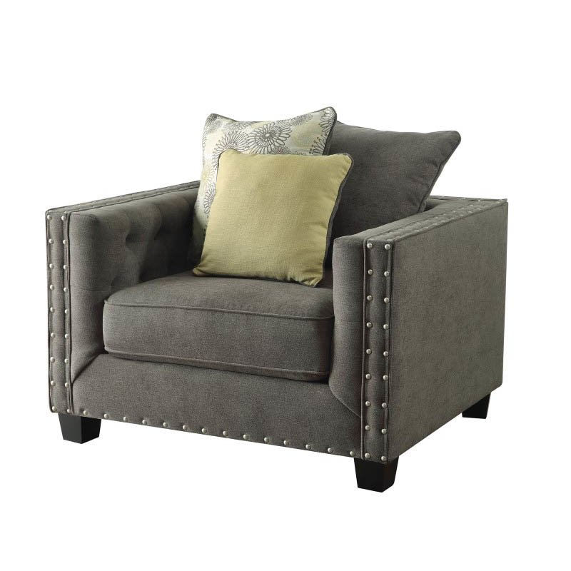 Coaster Kelvington Fabric Accent Chair in Brown