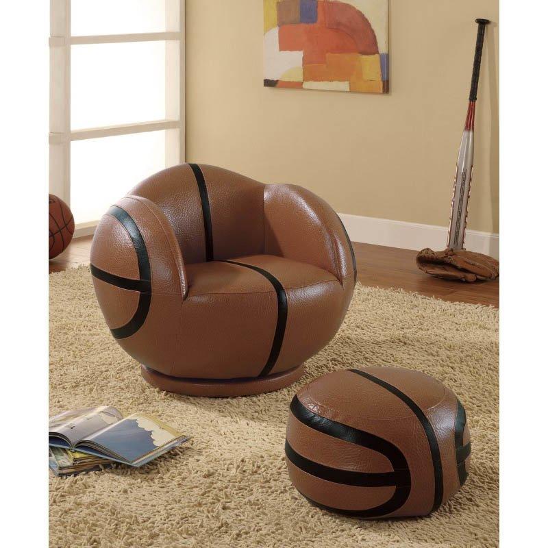 Coaster Kids Sports Chair Small Kids Basketball Chair and Ottoman