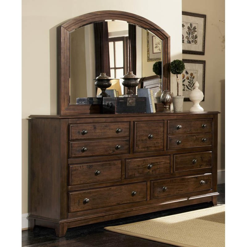 Coaster Laughton 8 Drawer Dresser in Rustic Brown