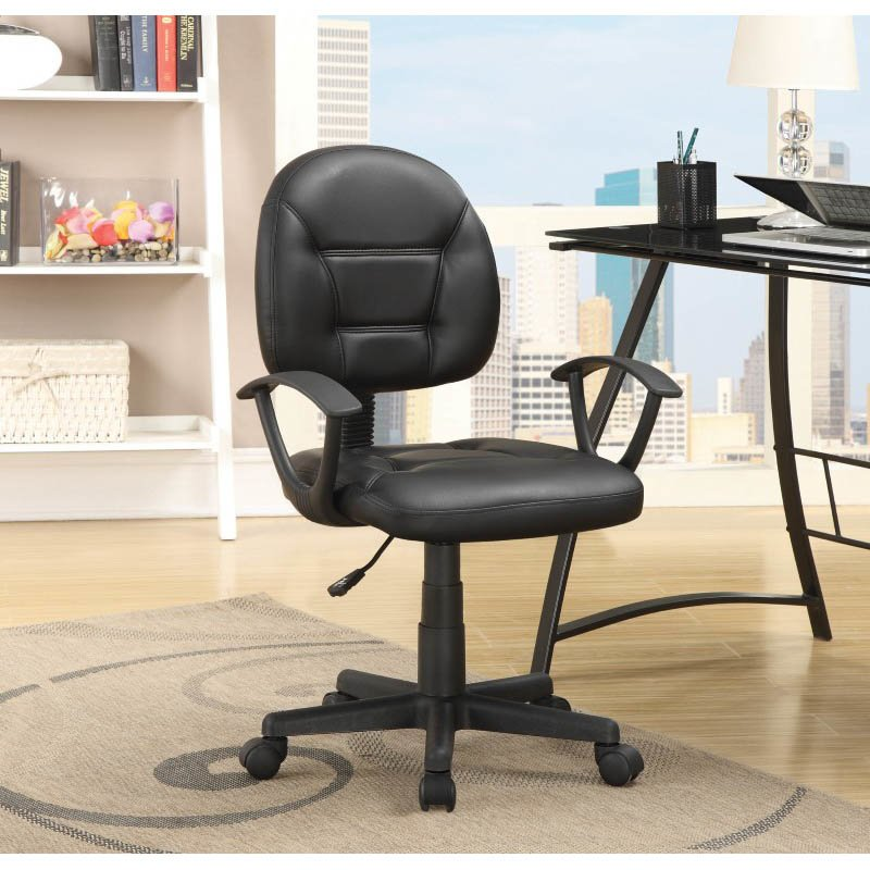 Coaster Leatherette Office Chair in Black