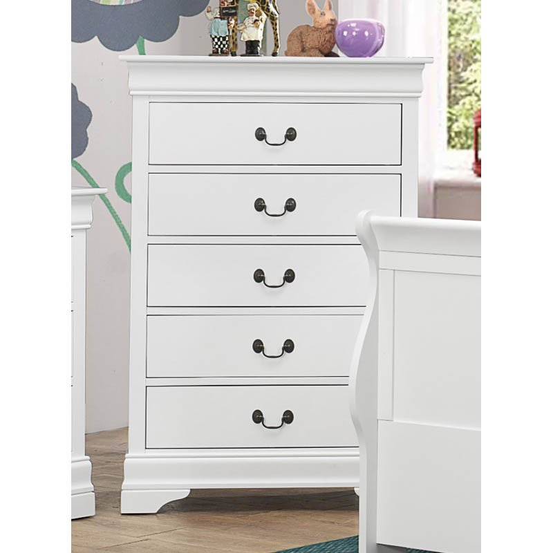 Coaster Louis Philippe 5 Chest in White