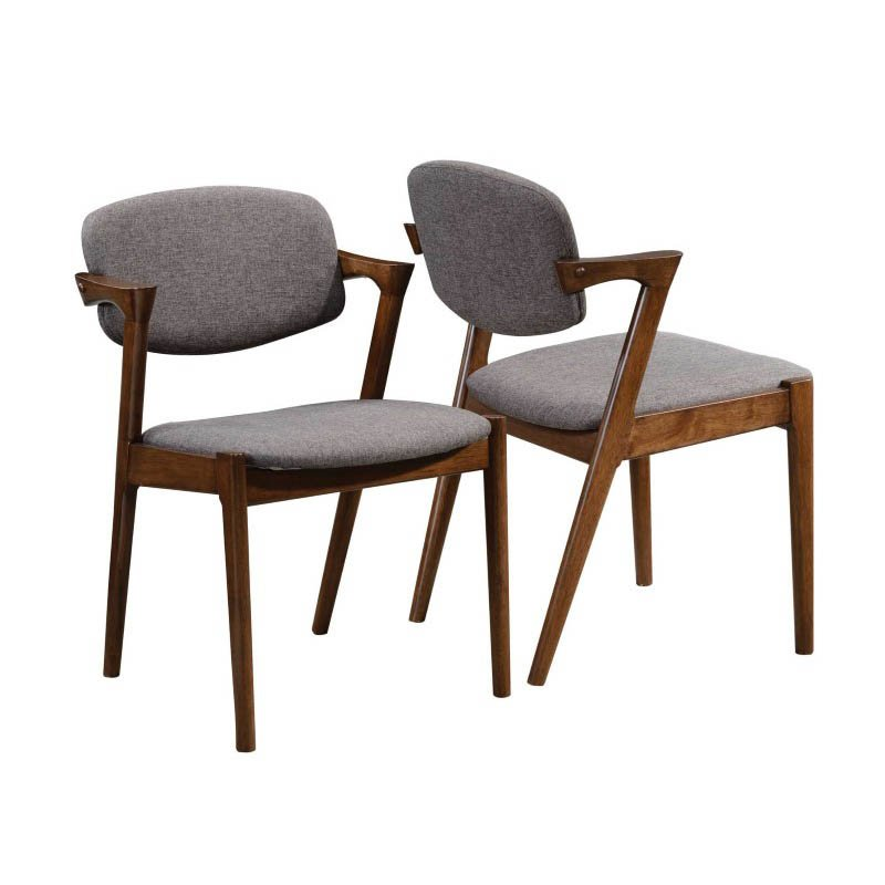Coaster Malone Mid Century Dining Side Chair in Dark Walnut