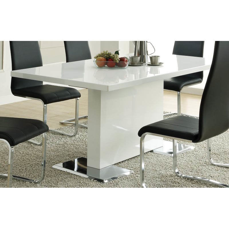 Coaster Modern Dining White Dining Table in White