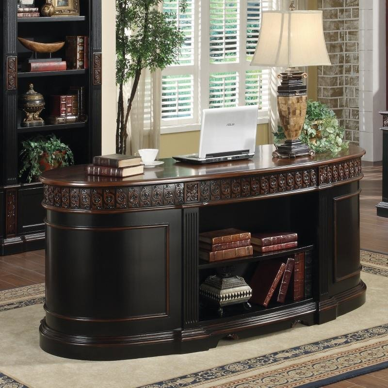 Coaster Nicolas Oval Executive Double Pedestal Desk
