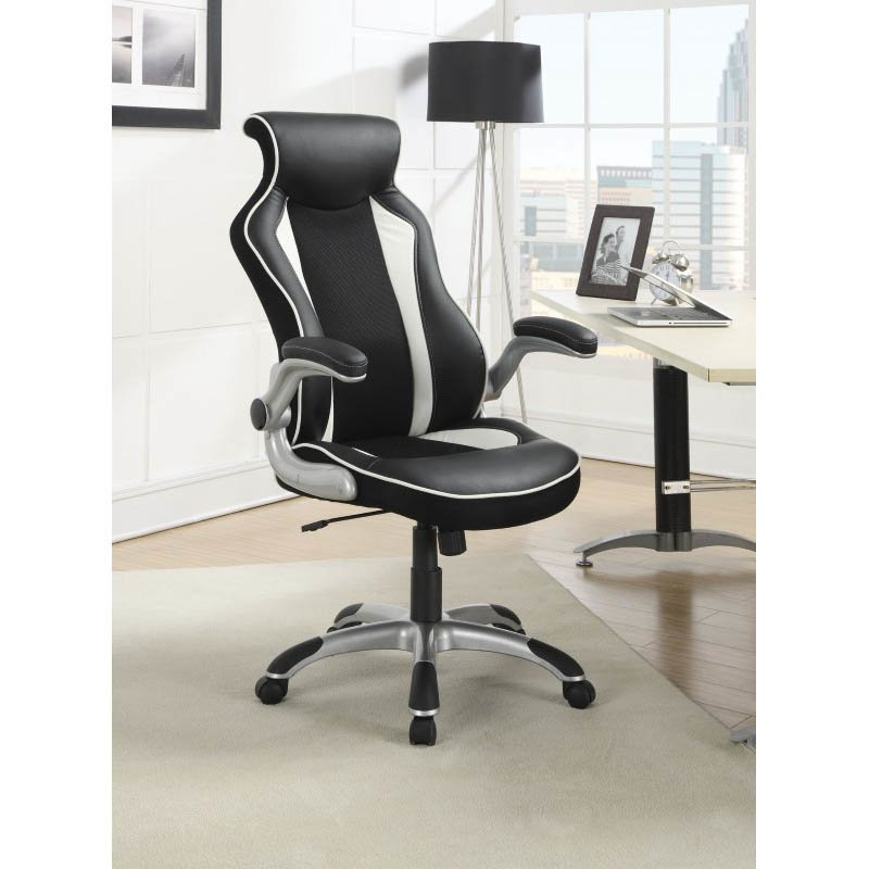 Coaster Office Chair in Black and White