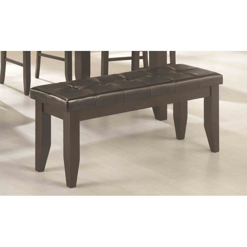 Coaster Page Contemporary Tufted Dining Bench in Black