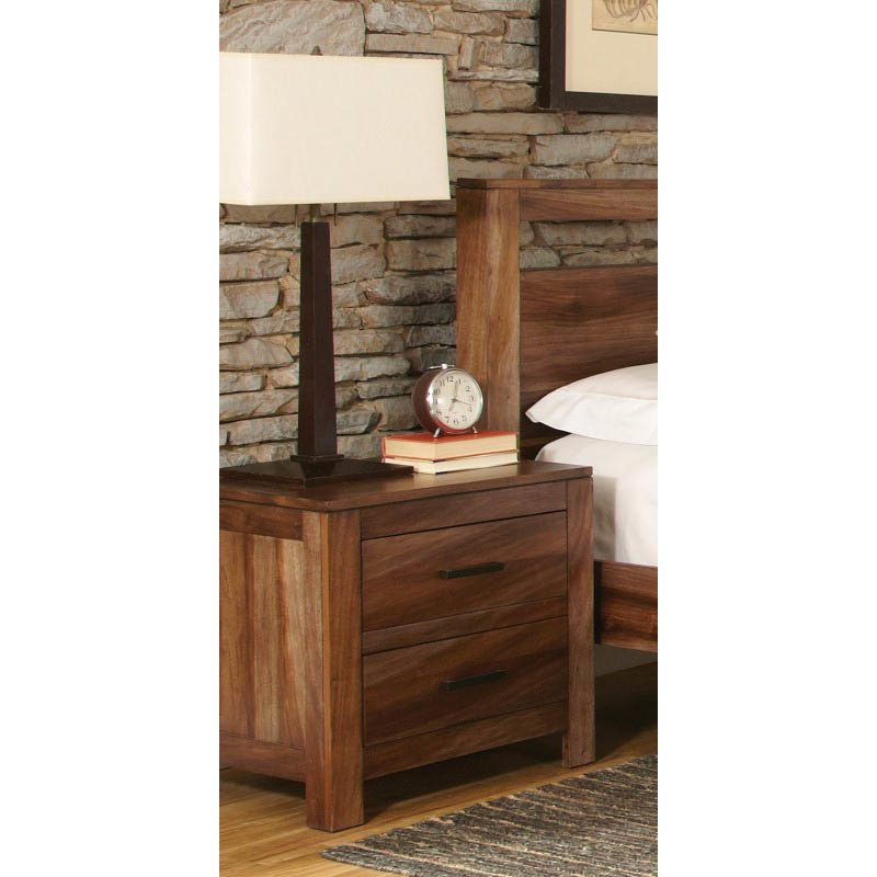 Coaster Peyton 2 Drawer Nightstand in Brown