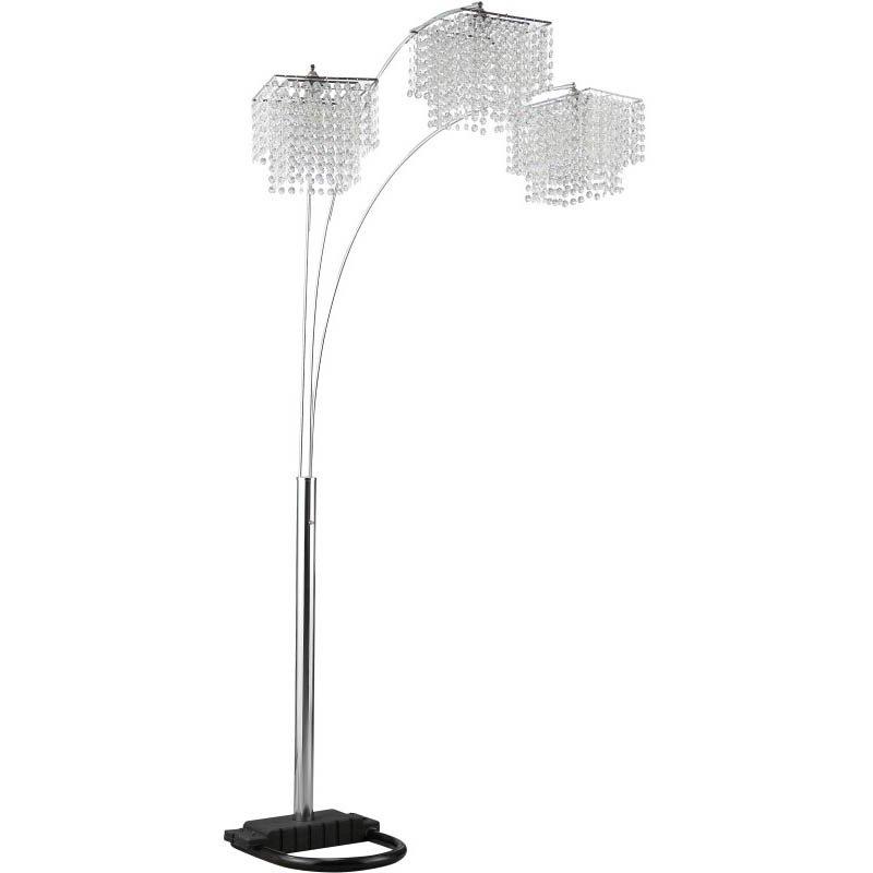 Coaster Poly Crystal Arc Floor Lamp