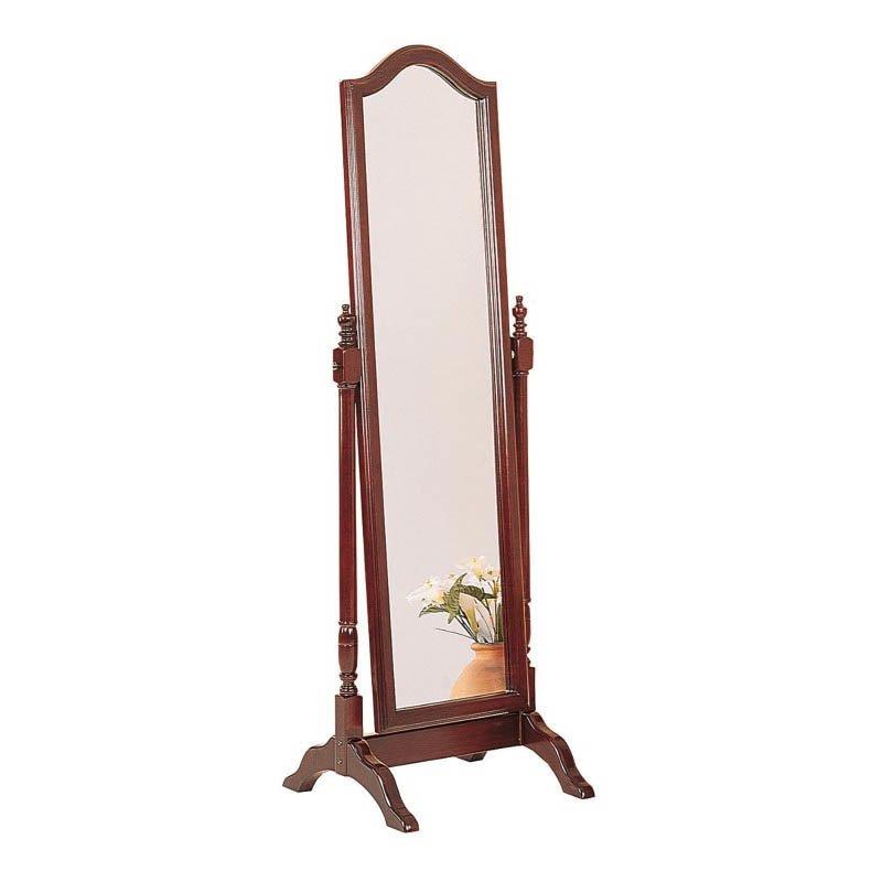 Coaster Rectangular Cheval Mirror in Mahogany