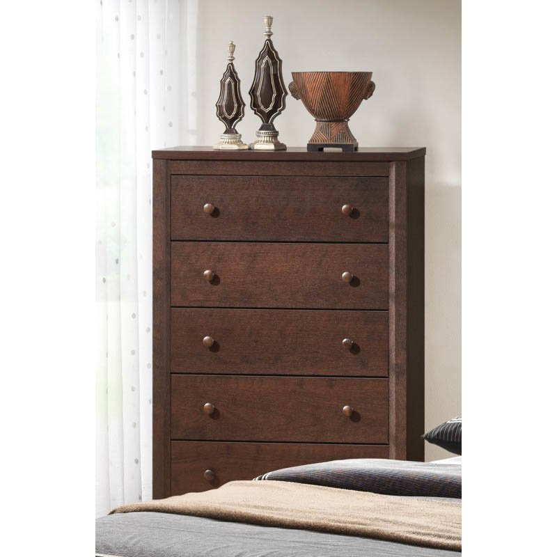 Coaster Remington 5 Drawer Chest in Cherry Finish