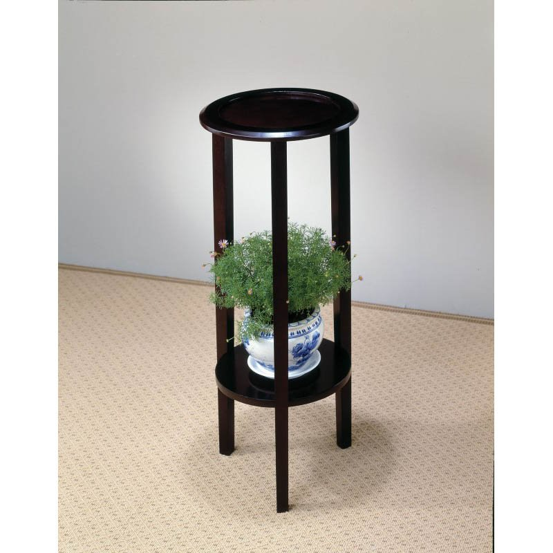 Coaster Round Plant Stand Table with Bottom Shelf