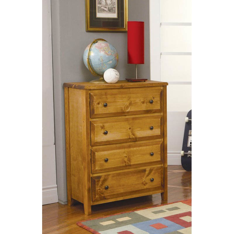 Coaster Rustic Four Drawer Dresser in Amber Wash