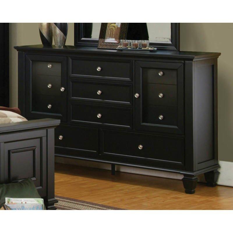 Coaster Sandy Beach Classic 11 Drawer Dresser in Black