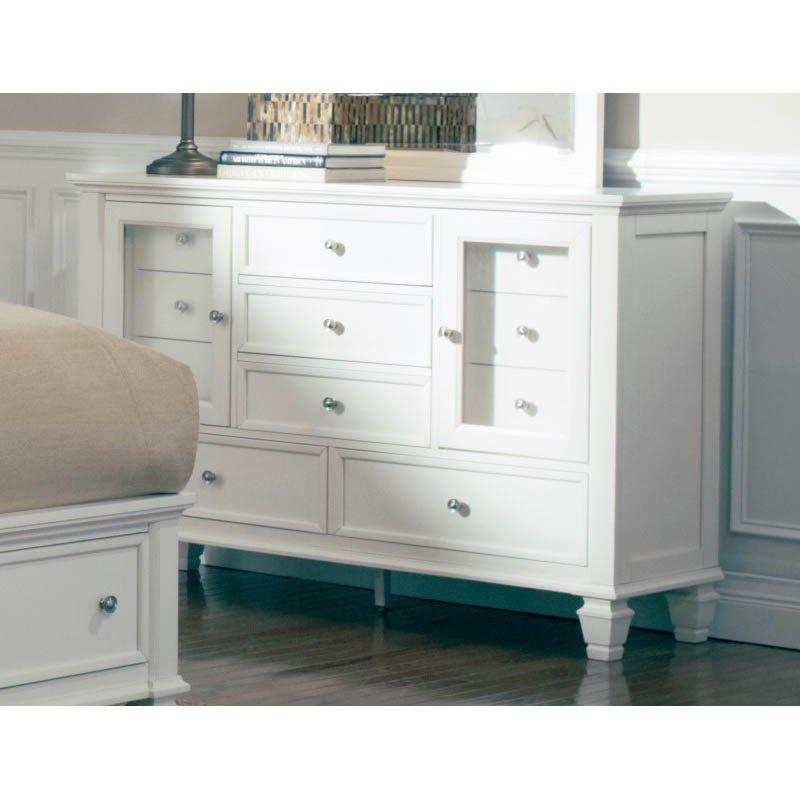 Coaster Sandy Beach Classic 11 Drawer Dresser in White