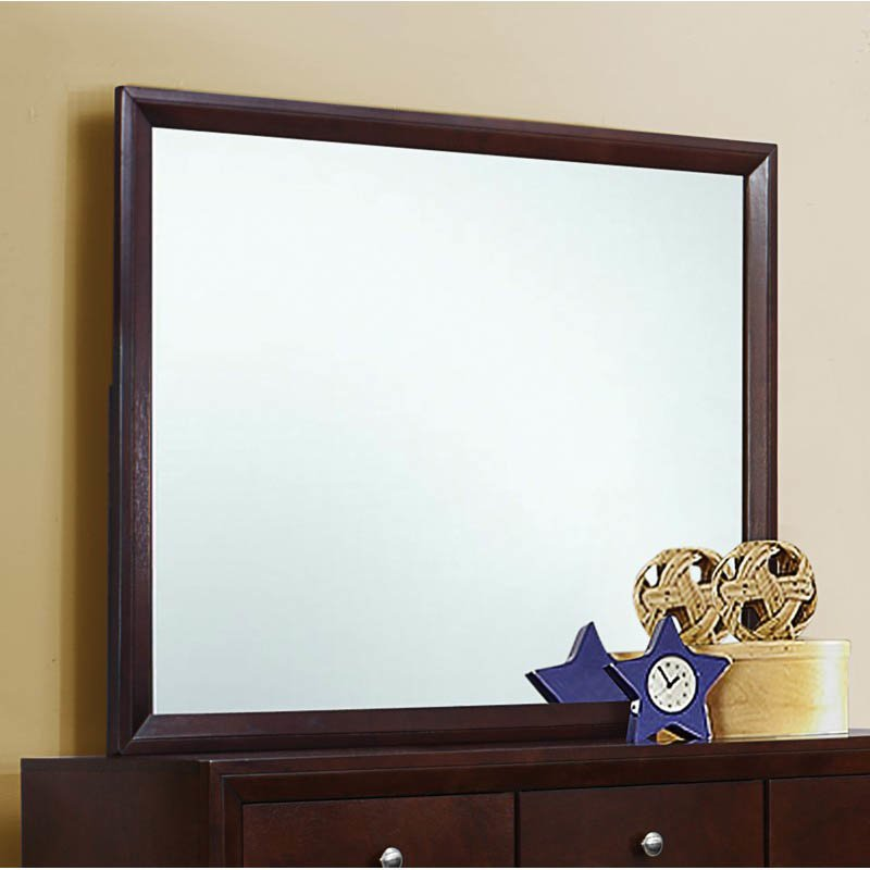 Coaster Serenity Rectangular Mirror in Rich Merlot Finish