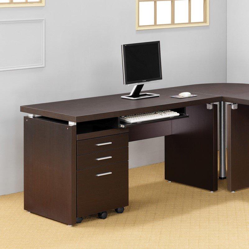 Coaster Skylar Computer Desk in Cappuccino