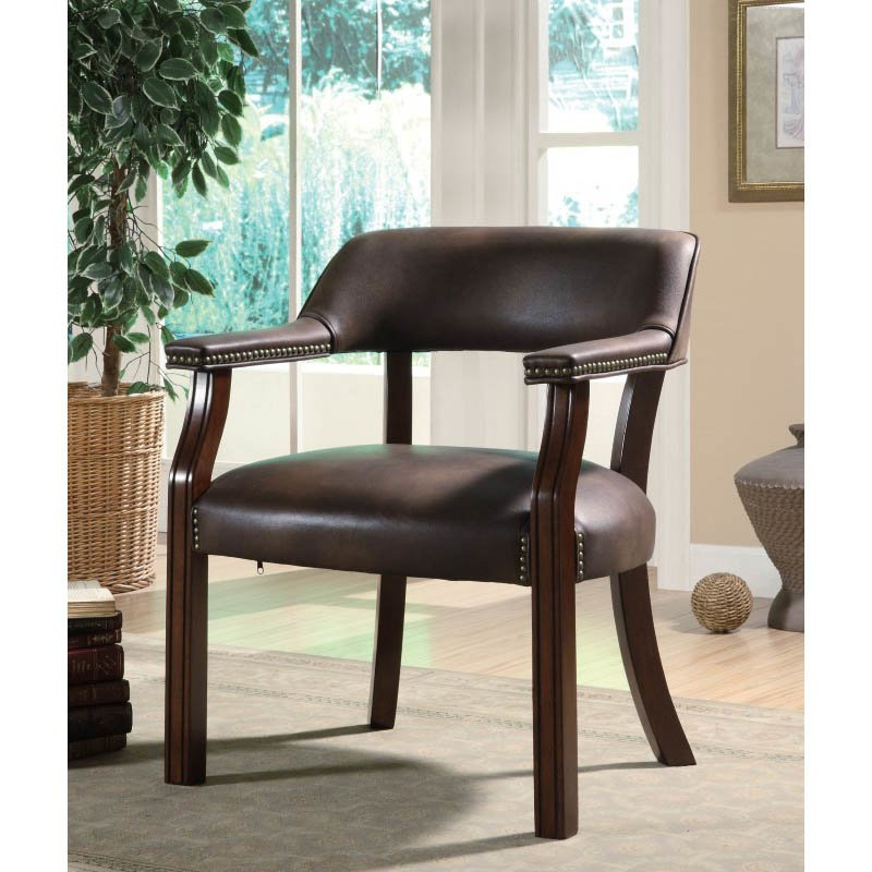 Coaster Traditional Office Side Chair in Black