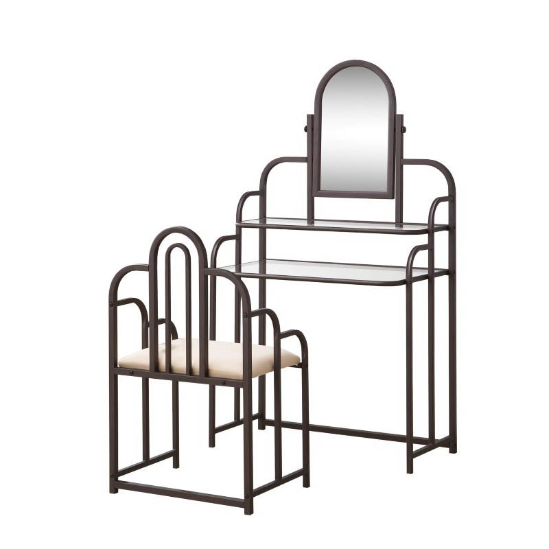 Coaster Two Piece Traditional Vanity Set in Cappuccino