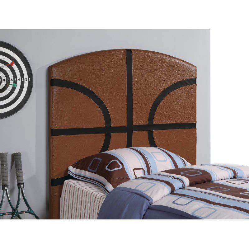 Coaster Youth Headboard Twin Sports Basketball Panel Headboard in Brown