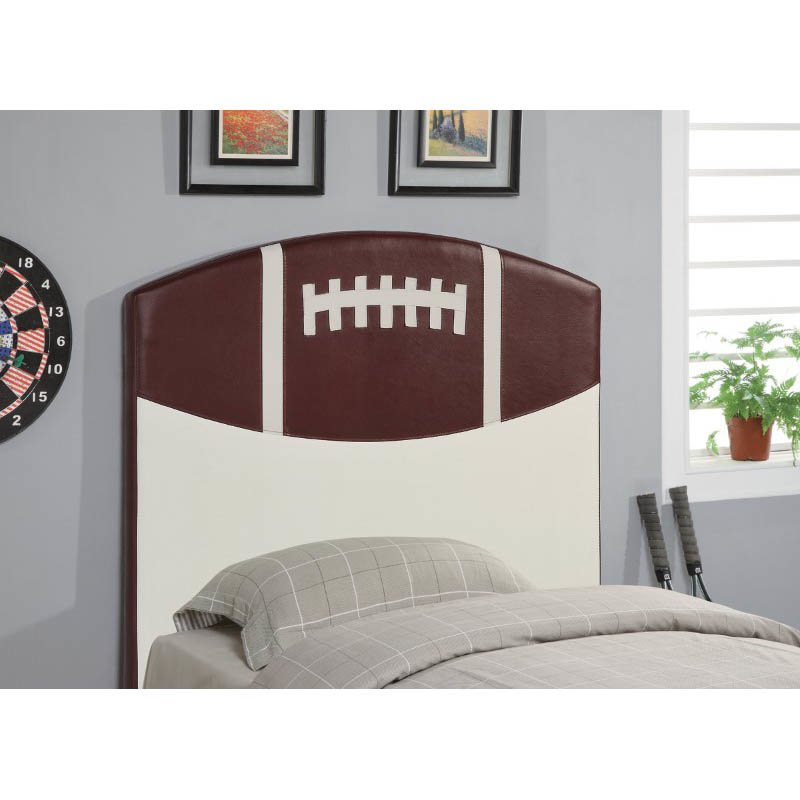 Coaster Youth Headboard Twin Sports Football Panel Headboard in Brown