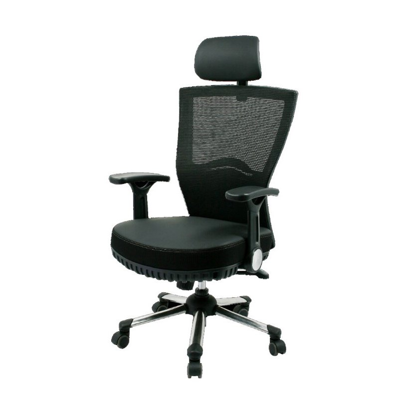 CSP Events Adjustable Max Pocket Spring Chair with Headrest and Casters - Black (OFC-G-BK)