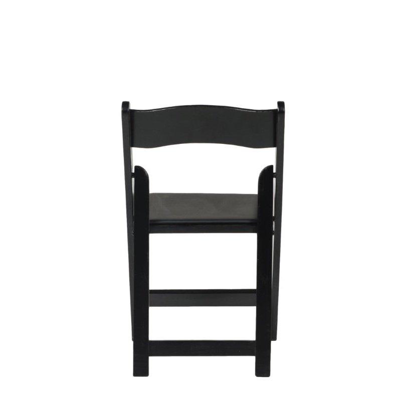 CSP Events American Classic Black Wood Folding Chair (A-101-BK)