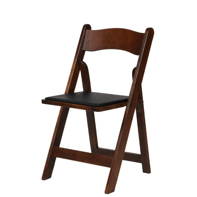 CSP Events American Classic Fruitwood Wood Folding Chair (A-101-FRW)