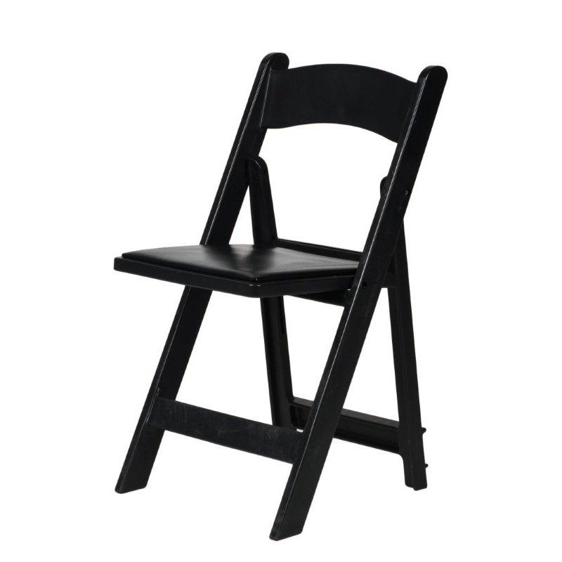 CSP Events Max Black Resin Folding Chair (R-101-BK)