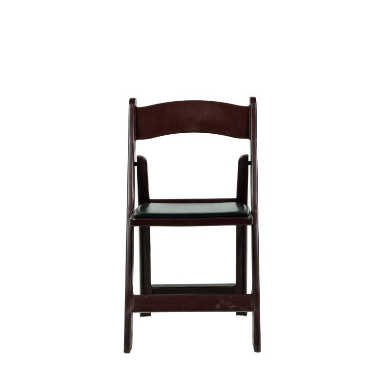 CSP Events Max Red Mahogany Resin Folding Chair (R-101-RM)