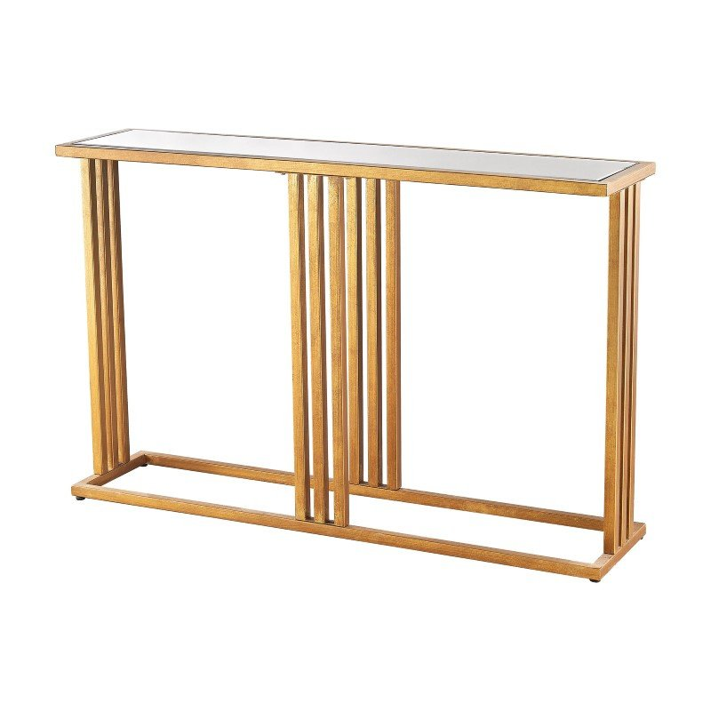 Dimond Home Andy Console in Gold Leaf And Clear Mirror (1114-200)