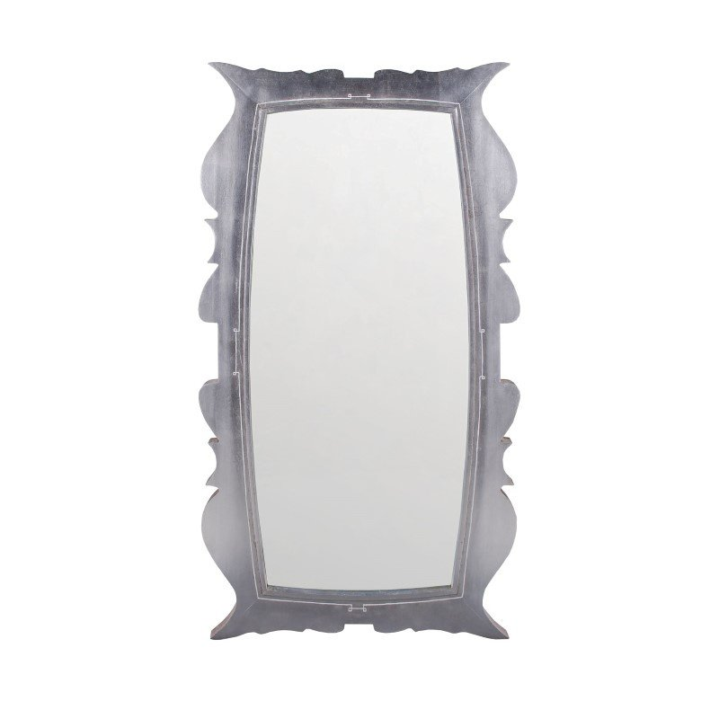 """Dimond Home Annie Silver Leaf 58"""" Mahogany and Glass Wall Mirror (7011-146)"""