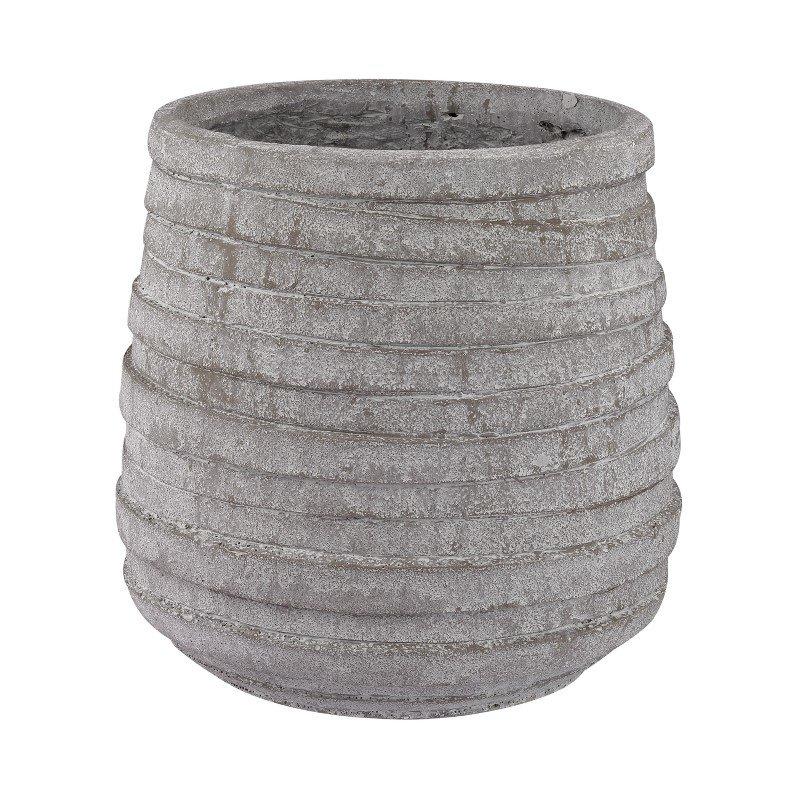 Dimond Home Barn Gray Corrugated Pot (156-001)