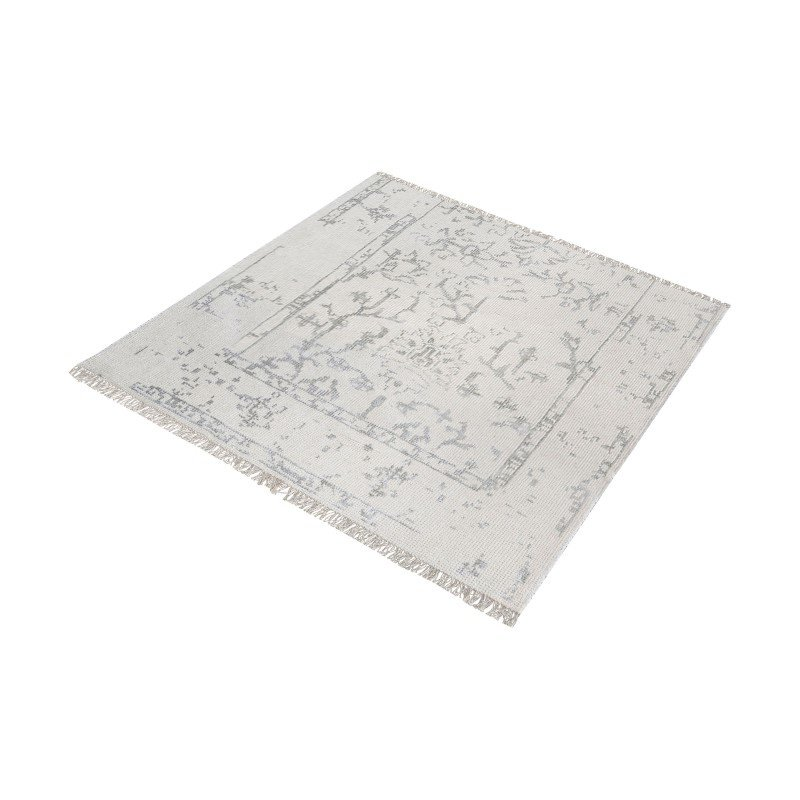 "Dimond Home Belleville Handknotted Wool And Bamboo Viscose Rug - 16"" Square (8905-325)"