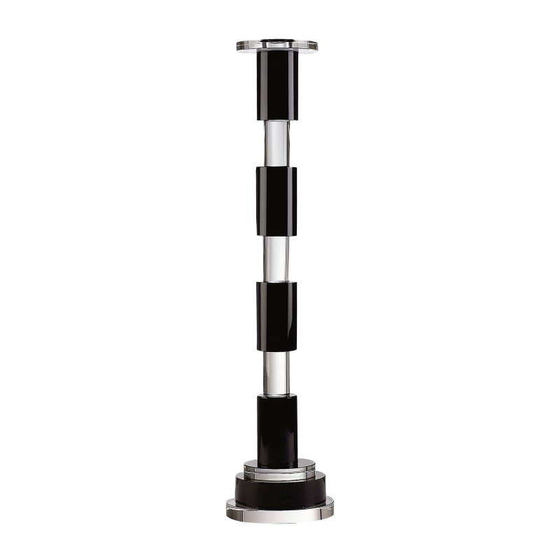 Dimond Home Black And Clear Crystal Rod Candleholder (329003)