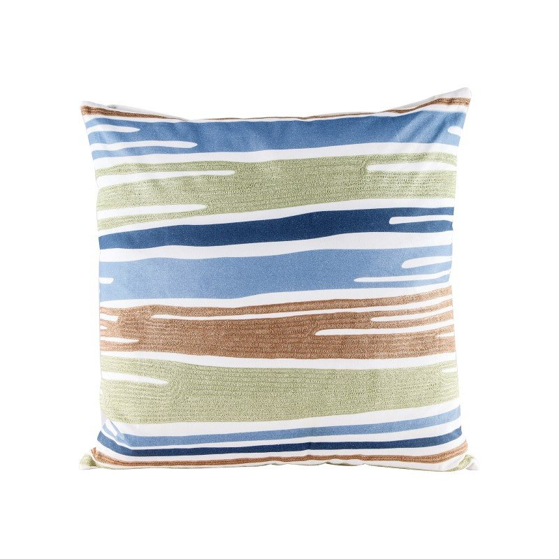 Dimond Home Blue Green Drapes Pillow With Goose Down Insert (8906-009)