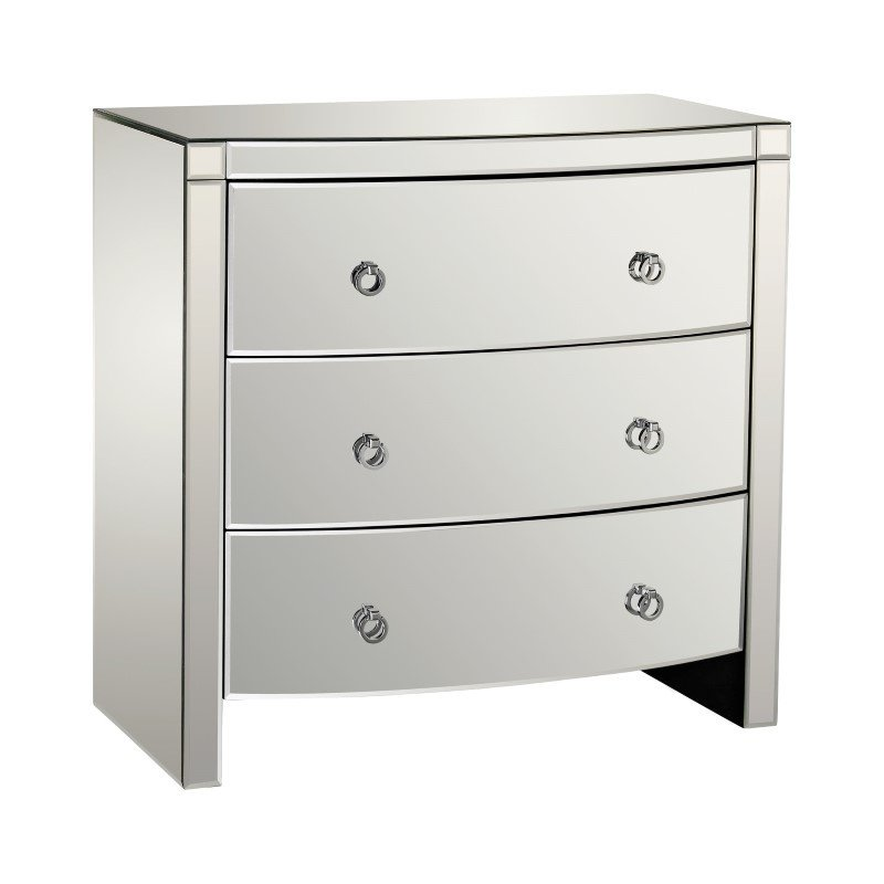 Dimond Home Bow Front 3-Drawer Mirror Chest (1114-162)