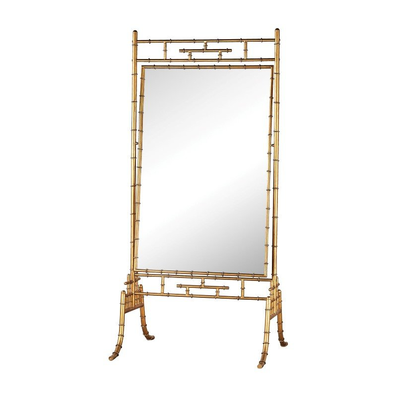 """Dimond Home Brunei Antique Gold 70"""" Metal and Glass Standing Mirror (1114-190)"""