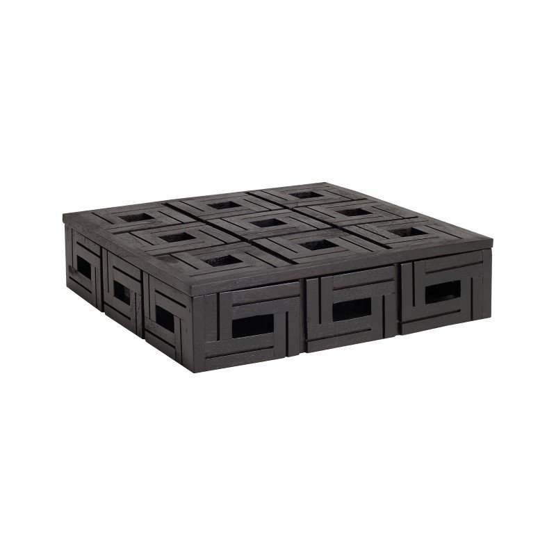 Dimond Home Chocolate Teak Patterned Box - Large (784072)