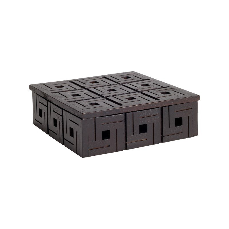 Dimond Home Chocolate Teak Patterned Box - Small (784071)