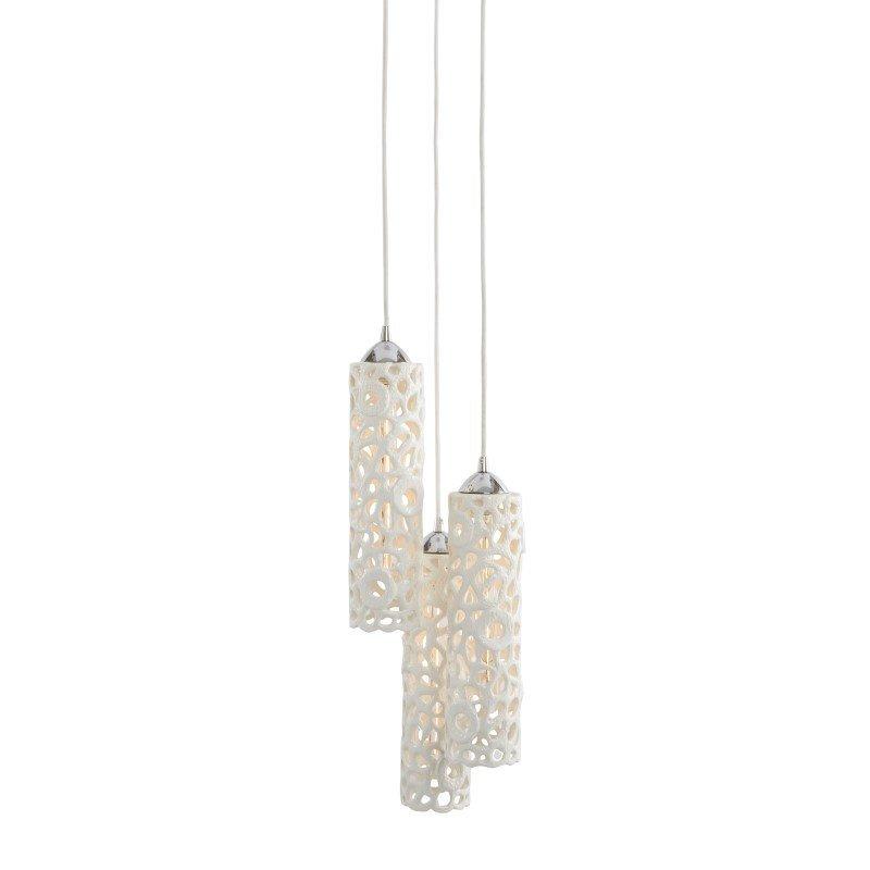 Dimond Home Cholla 3 Light Openwork Ceramic Pendant in White (225060)