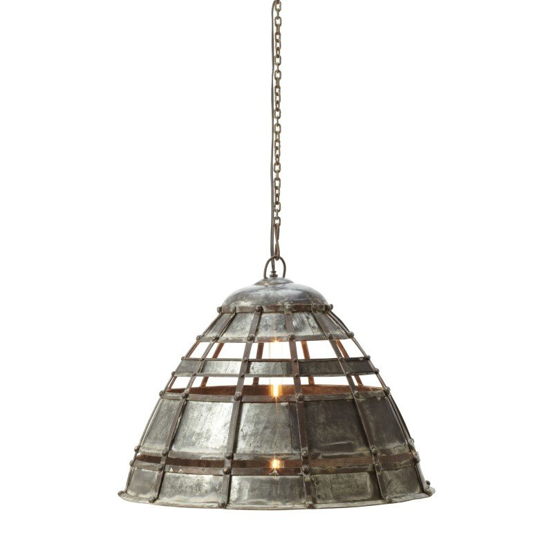 Dimond Home Colossal Fortress 1 Light Pendant in Distressed Silver (135004)