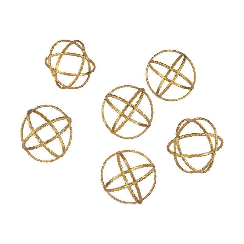 Dimond Home Decorative Gold Orbs (351-10174/S6)