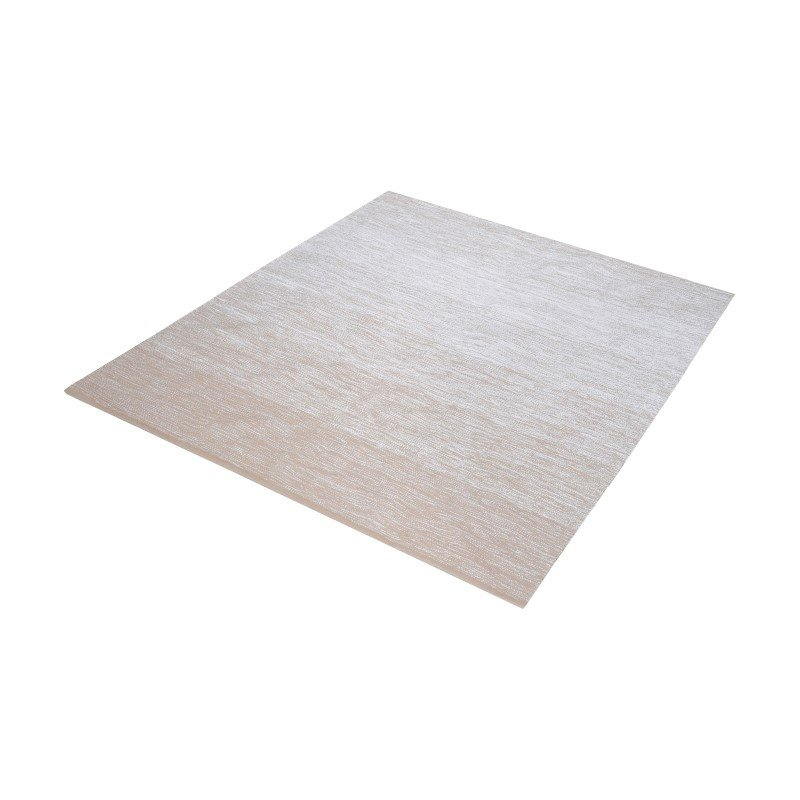 """Dimond Home Delight Handmade Cotton Rug in Beige And White - 16"""" Square (8905-034)"""