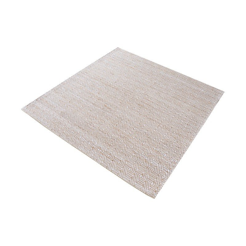 """Dimond Home Elsie Handwoven Hemp And Cotton Rug - 16"""" Square (8905-124)"""
