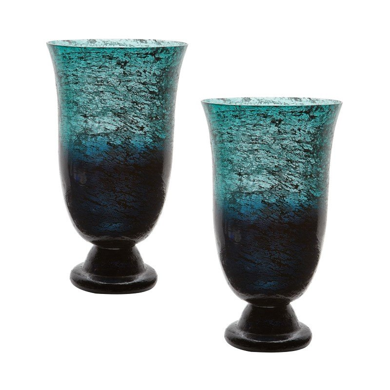 Dimond Home Emerald Ombre Flared Vase (Set of 2) (876022/S2)