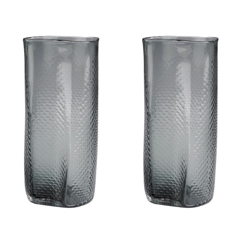 Dimond Home Etched Glass Vases in Grey (Set of 2) (154-015/S2)